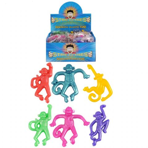 84 x Stretchy Monkeys - Stretchies Party Bag Fillers Favours Toys - Wholesale Bulk Buy